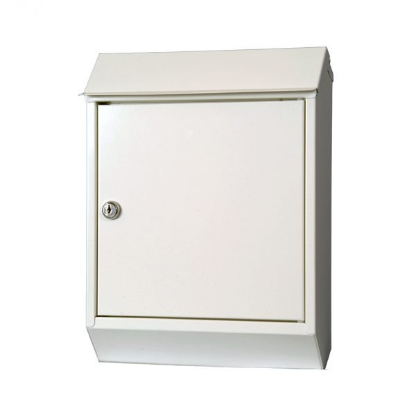 Eurobox Steel Mailbox - White