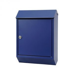 Eurobox Steel Mailbox - Blue