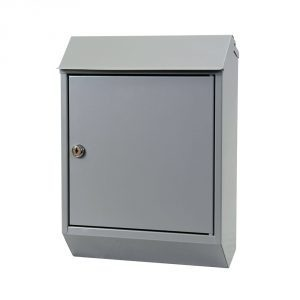 Eurobox Steel Mailbox - Grey