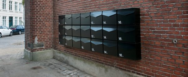 Multiple MEFA Letter Post Boxes used to securely store mail in a multi-occupancy private development