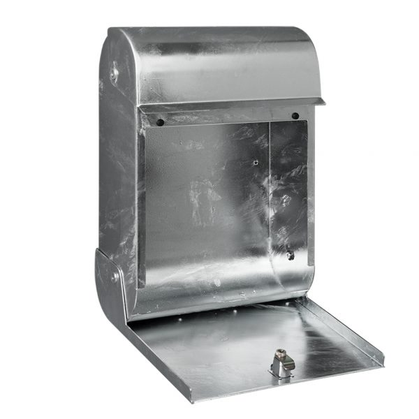 MEFA Opal - Postbox - Galvanised Steel finish