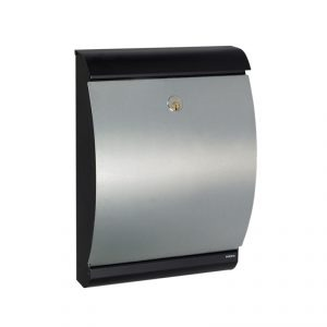 MEFA Puffin Mailbox - Black / Galvanised Steel