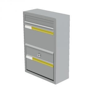COM 1 Steel Mailbox - Window Grey