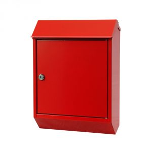 Eurobox Steel Mailbox - Red
