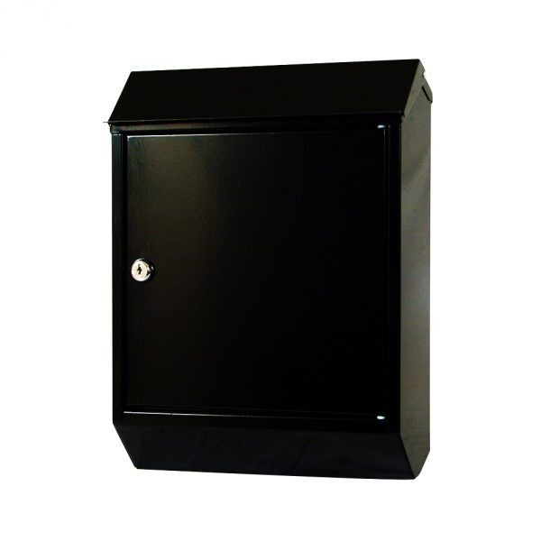 Eurobox Steel Postbox - Black